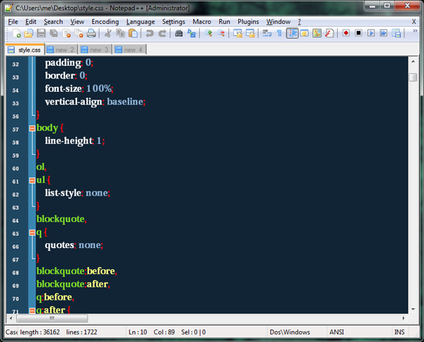 Notepad++ Screenshot