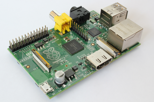 The Raspberry Pi.