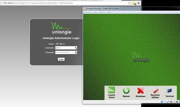 Running Untangle in VM