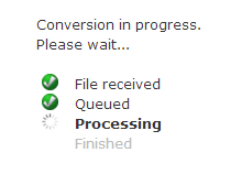File processing through online-convert.com.