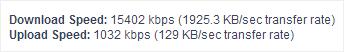 My regular internet speed.