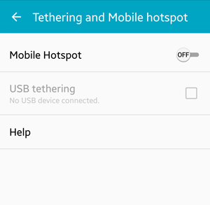 Android: Tethering and Mobile Hotspot